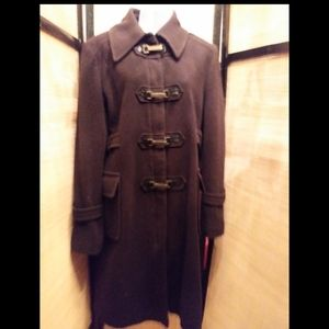 Mexx brown vintage wool&cashmere trench jacket